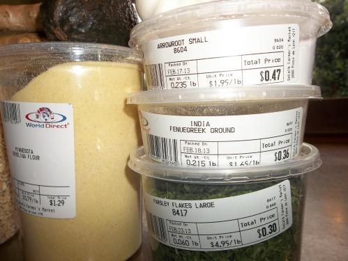 1 lb. Semolina flour, fenugreek, arrowroot and parsley