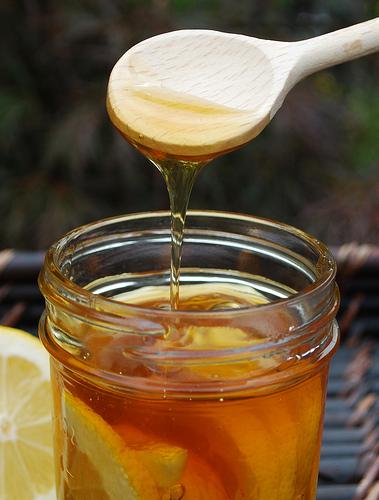 mmmmm...lemons in honey!