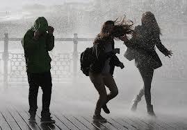 rained on people