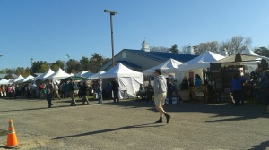 rows and rows of tents with vendors!!!