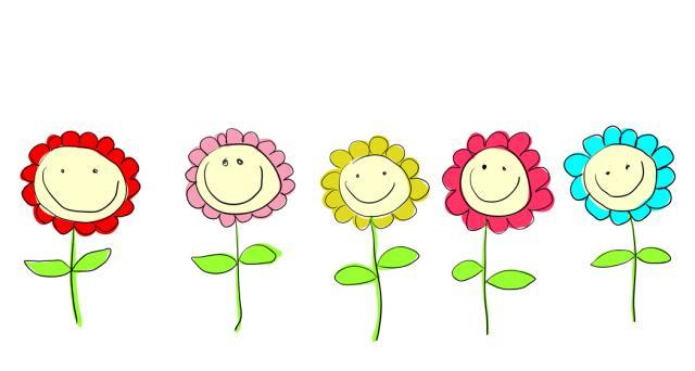 Smiling Flowers Clip Art_JPG