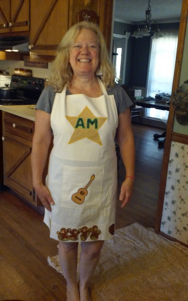 cool apron from mom